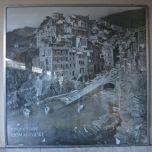Vintage photo of Riomaggiore in the train station