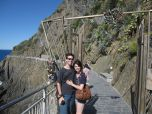 Eric and I starting our day at Via dell'Amore, the path between Riomaggiore and Manarola