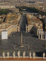 Overlooking Vatican City from the top of St. Peter's Basilica