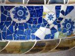Blue china mosaic bench