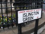 Islington Green, green space on Upper Street next to the movie theatre Screen on the Green
