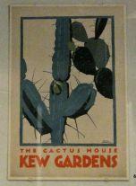 Poster advertising Kew Gardens in London-love this print!
