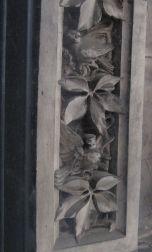 Detail of the window engravings