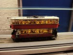Model Train running around the entire museum