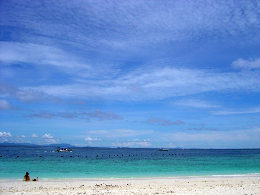 Sipadan Island Beach Blue Skies