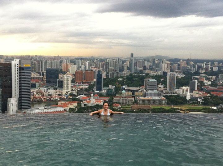 Marina Bay Sands Infinity Pool Me