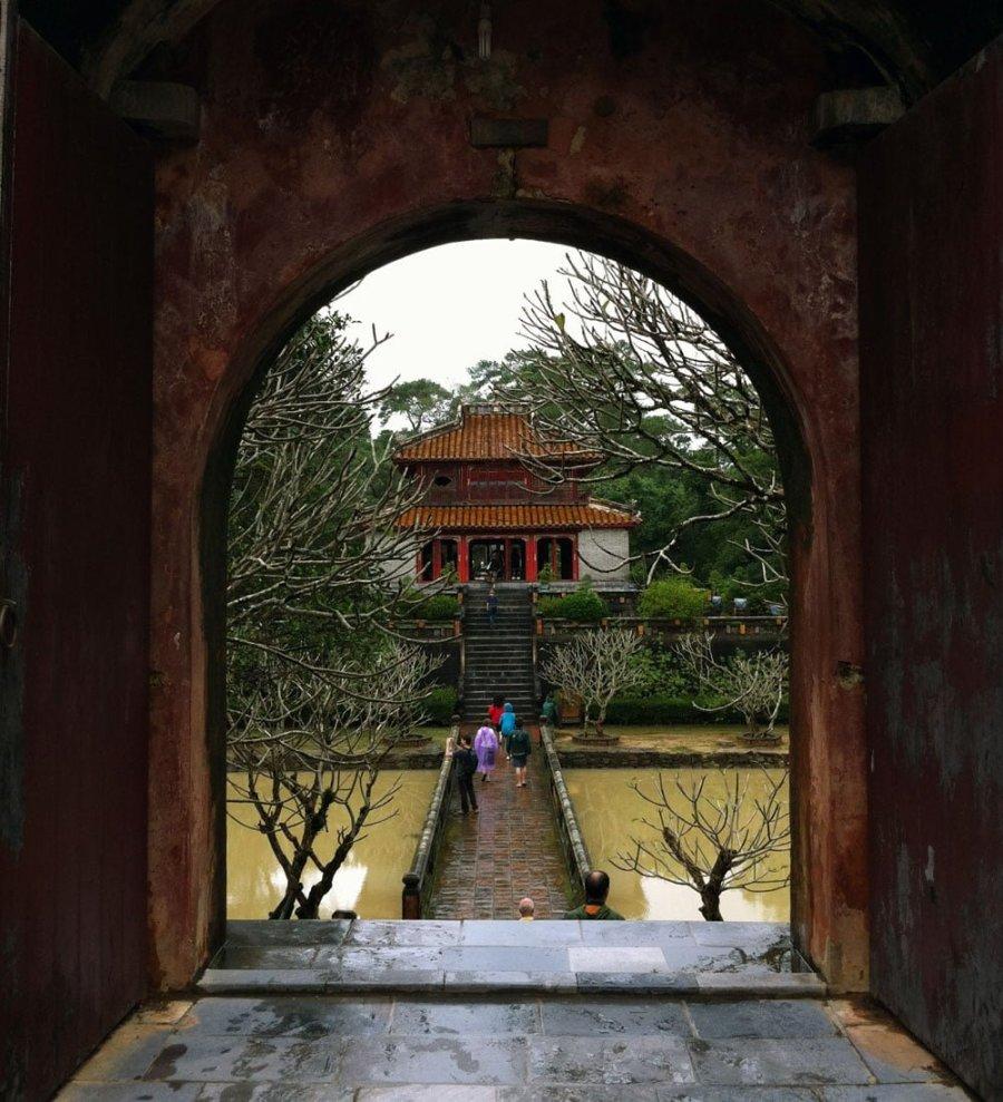 Vietnam Hue Minh Mang Doorway