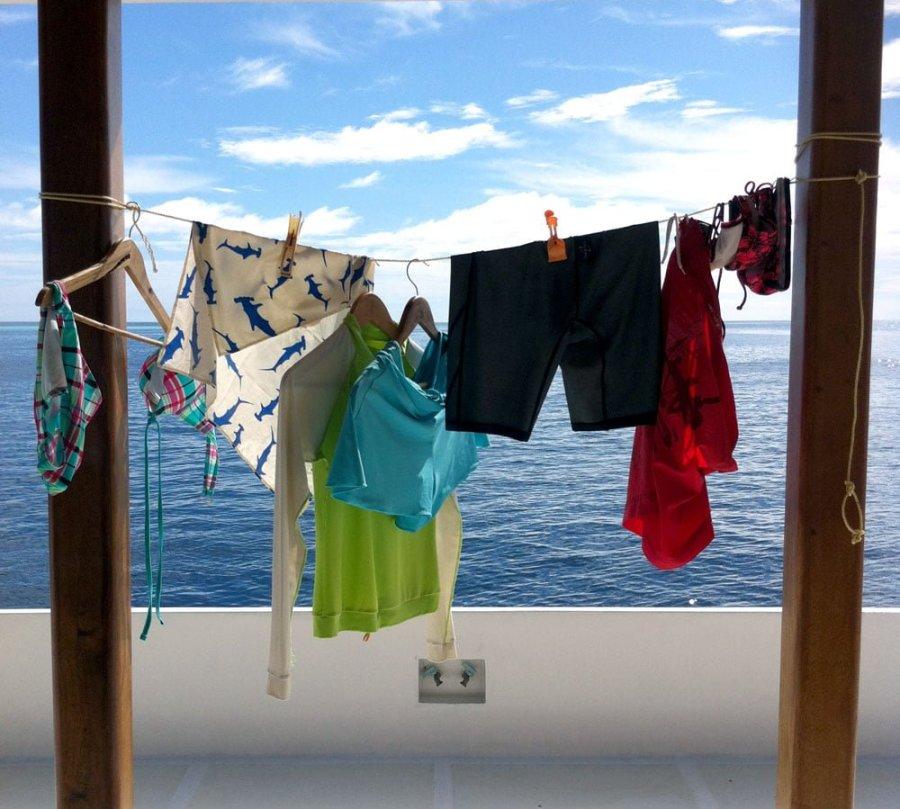 Maldives Diving LOB Gear Drying