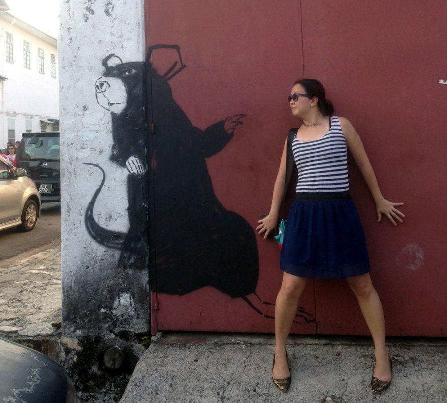 Penang Street Art Armenian Rat Me