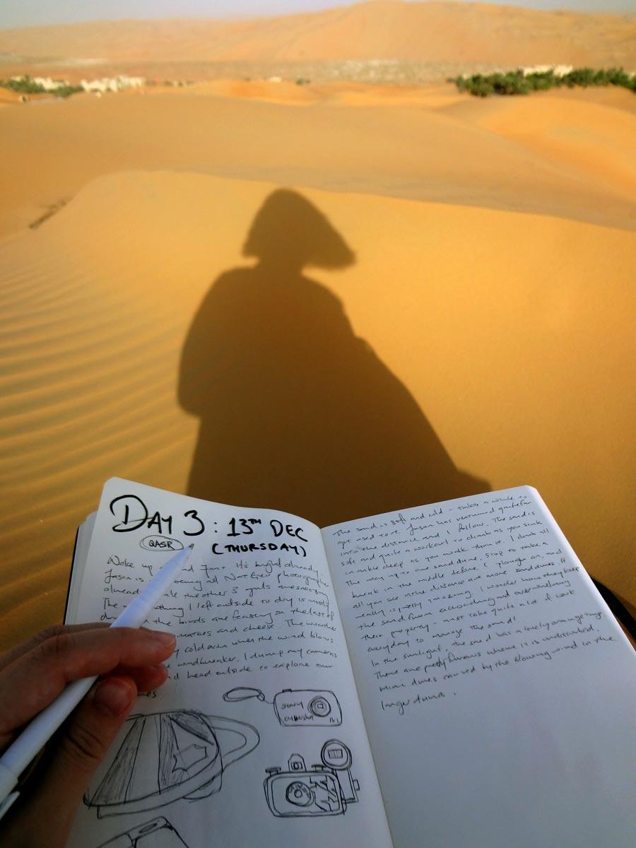 Qasr Al Sarab Desert Journalling