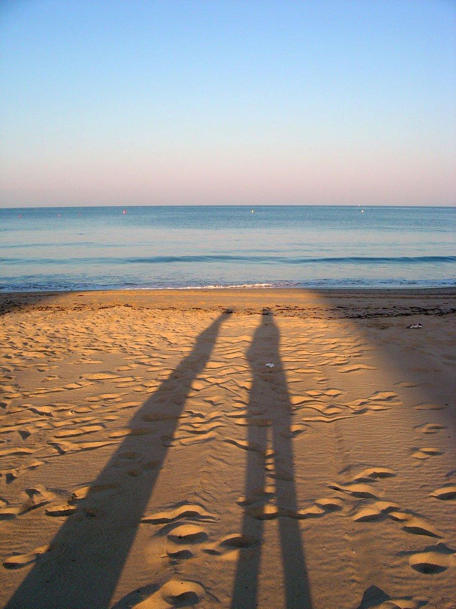 Spain Chipiona Beach Shadow