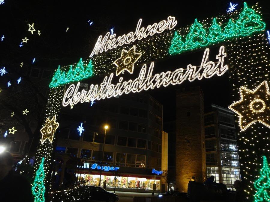 Munich Marienplatz Christmas Market Entrance