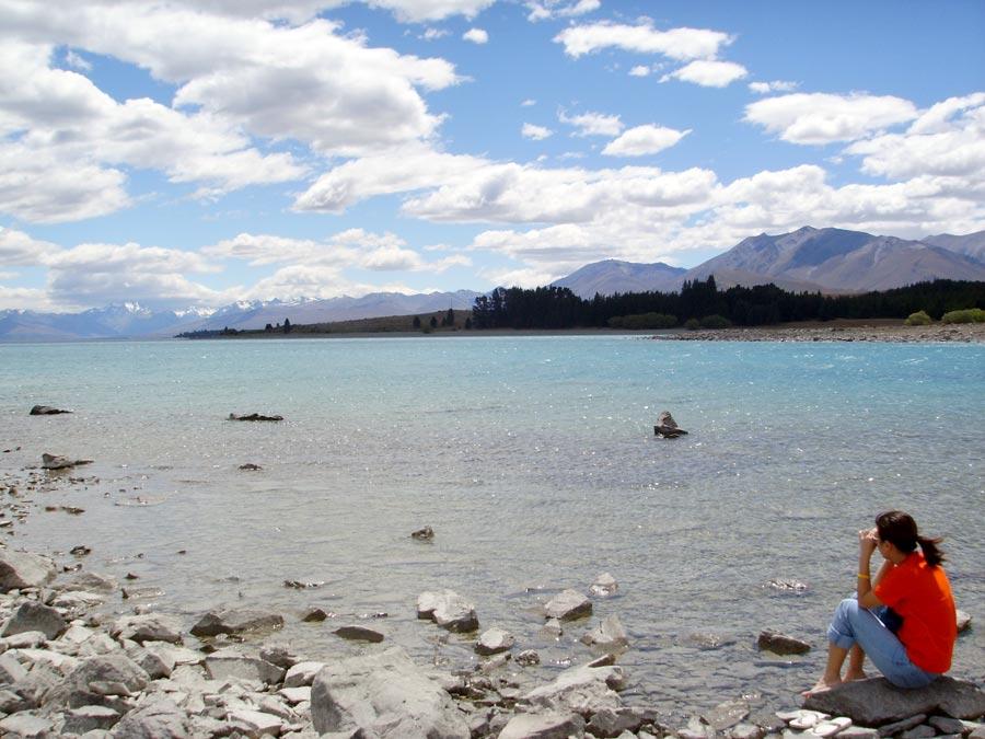 New Zealand Lake Tekapo Me Sitting