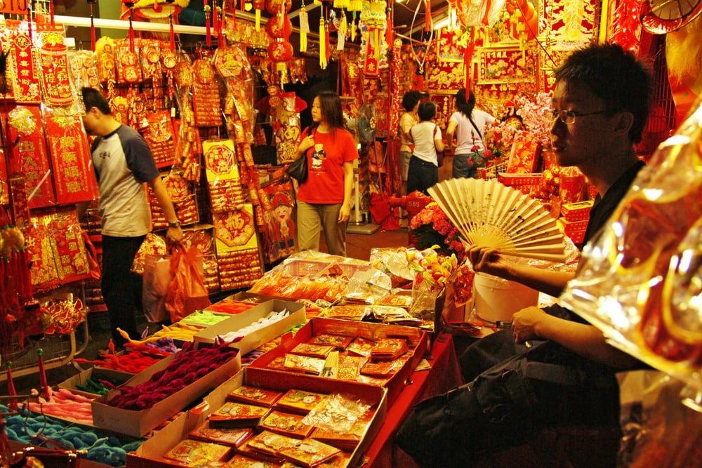 Singapore Chinatown Chinese New Year Stall STB