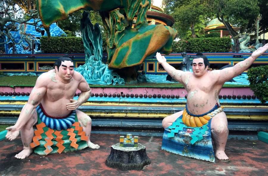 Haw Par Villa Sumo Wrestlers Tiger Balm
