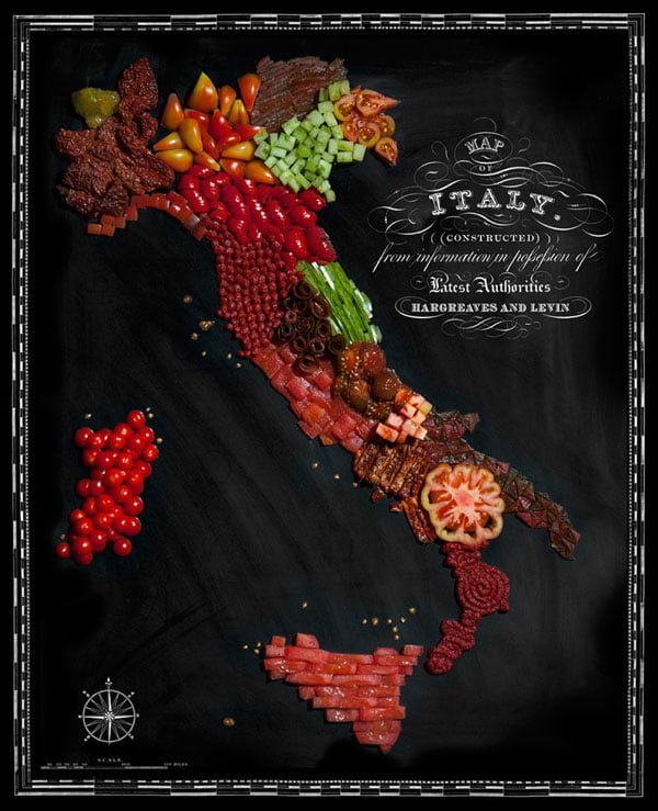 Food Maps by Henry Hargreaves and Caitlin Levin - Italy