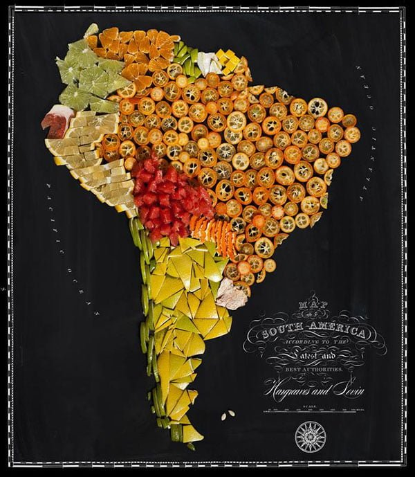 Food Maps by Henry Hargreaves and Caitlin Levin - South America