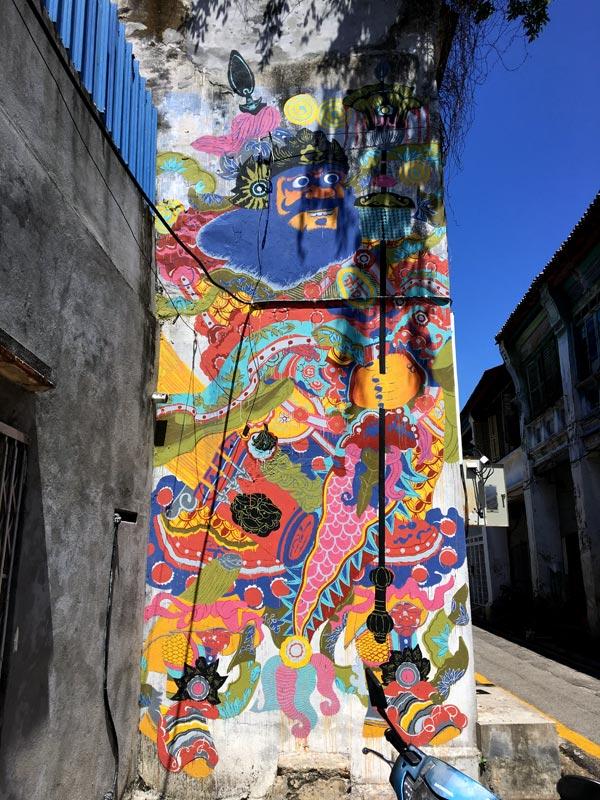 Penang Street Art - Lorong Toh Aka Bibichun Security