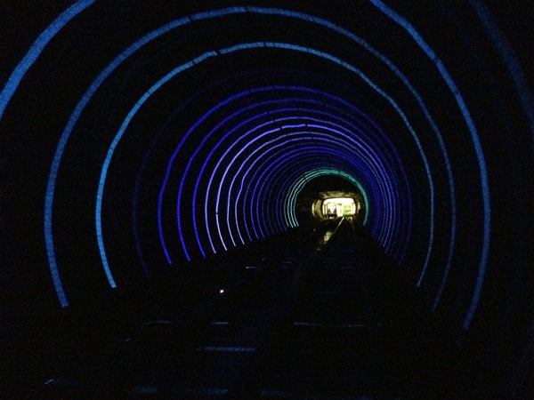 Shanghai Spring - Bund Sightseeing Tunnel Effect