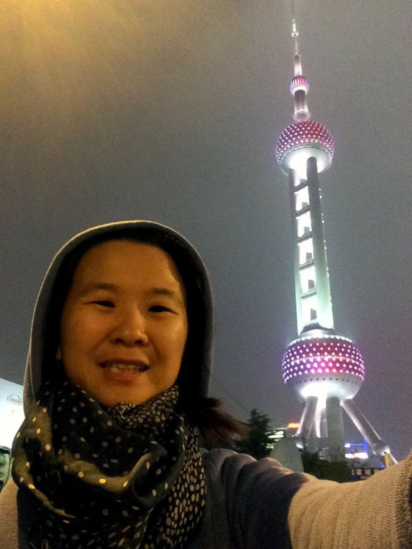 Shanghai Spring - Pearl Tower and Me