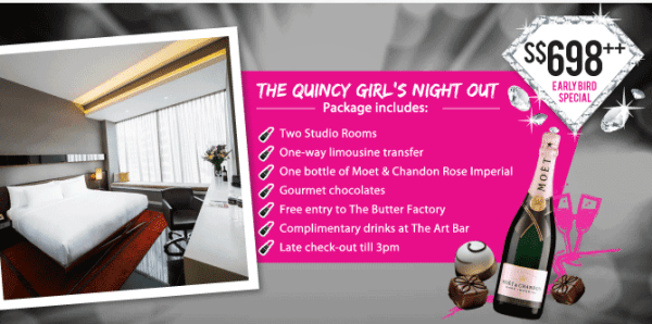 Quincy Hotel - Girls Night Out Package Details