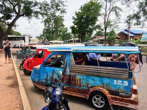 Ayuthaya - Wat Chaiwatanaram tuktuk