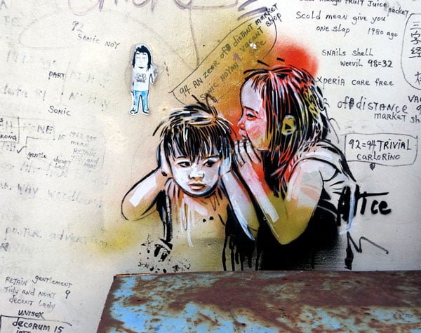 Singapore Street Art - Alice Pasquini Close up