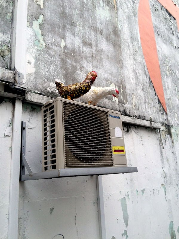 Singapore Street Art - Aliwal chickens