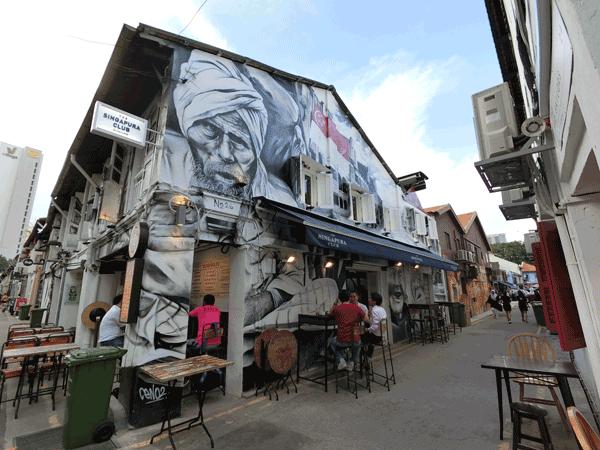 Singapore Street Art - Haji Lane Ceno2