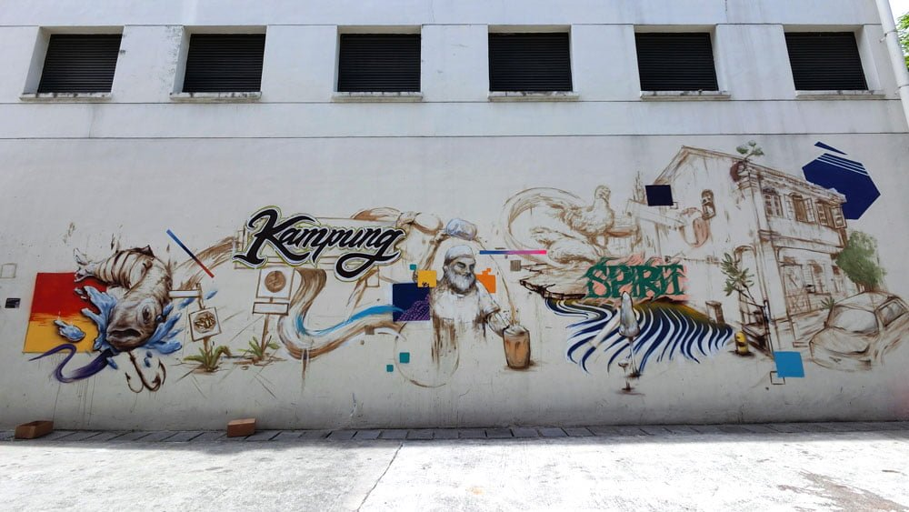 Singapore Street Art Kampung Spirit