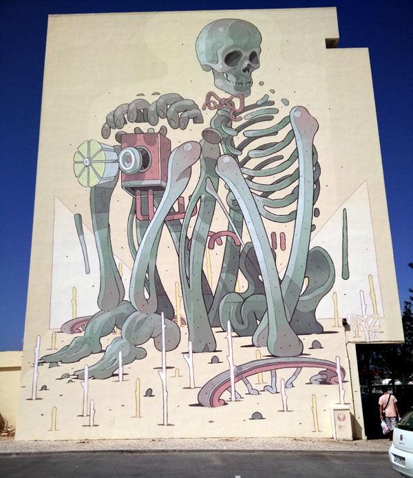 Portugal - Lagos Street Art Aryz 2