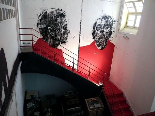 Portugal - Lagos Street Art Borondo stairwell
