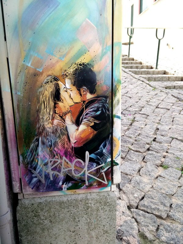 Portugal - Lagos Street Art C215 rainbow couple