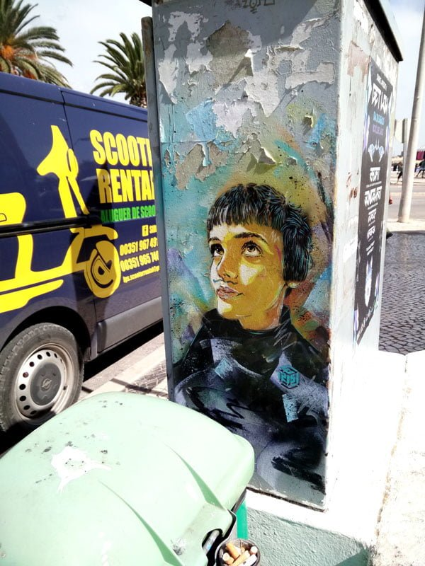 Portugal - Lagos Street Art C215 rainbow girl
