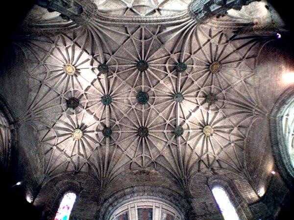 Portugal - Lisbon Belem Monastery Church Ceiling