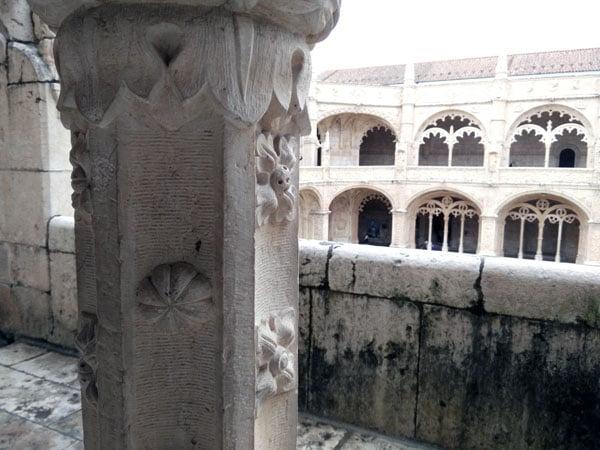 Portugal - Lisbon Belem Monastery Pillar Detail