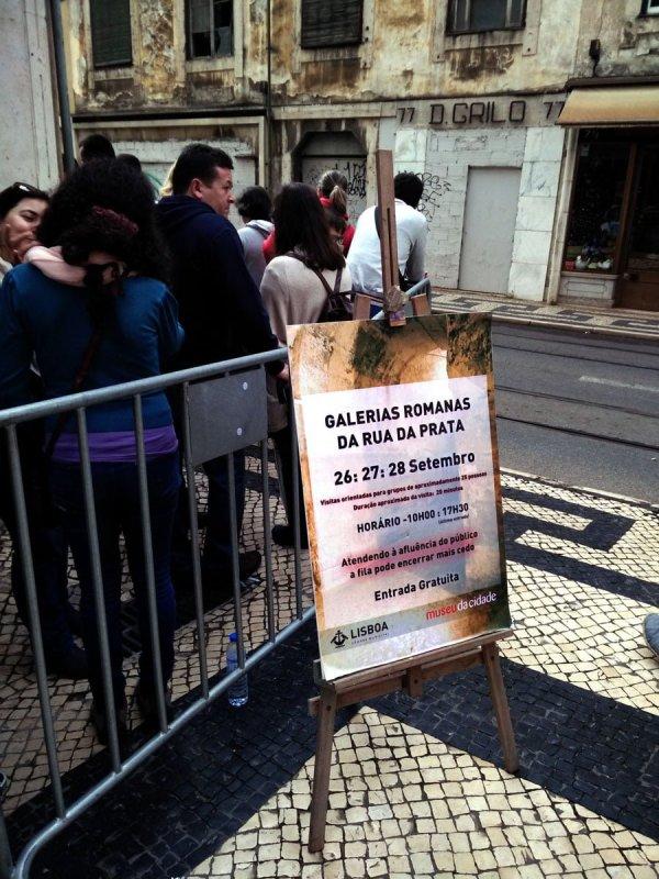 Portugal - Lisbon Roman Galleries Sign