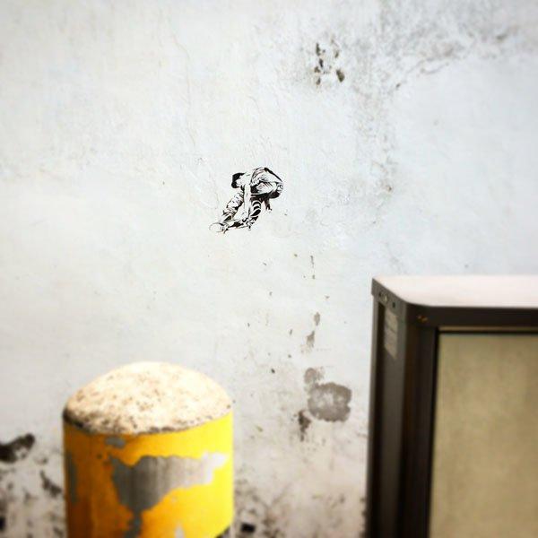 Singapore Street Art - Random Skateboarder