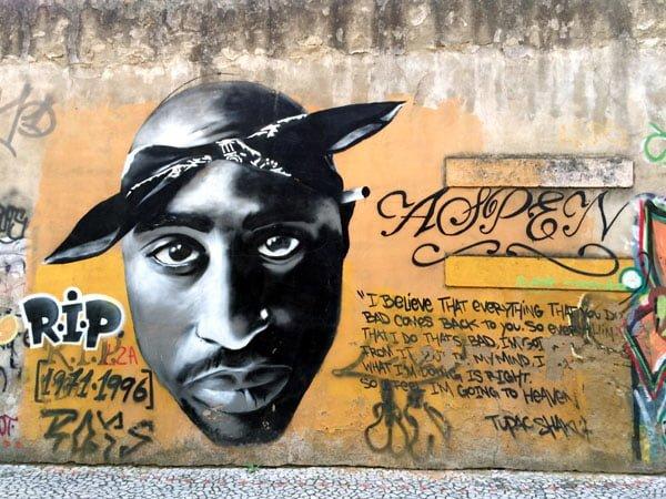 Portugal - Lisbon Street Art Amoeiras Tupac