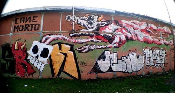 Portugal - Lisbon Street Art Cane Morto Long