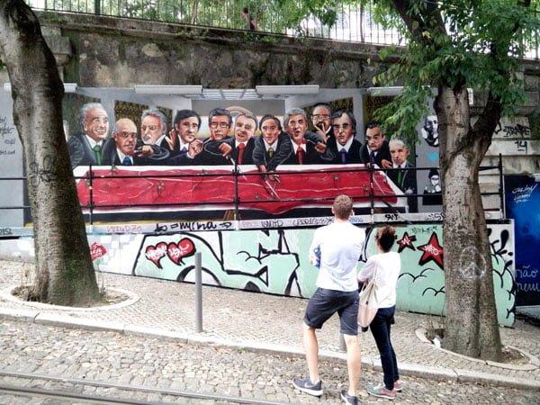 Portugal - Lisbon Street Art GAU Last Supper