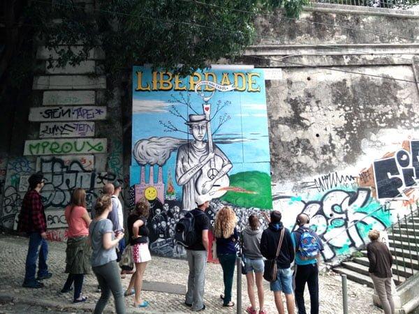 Portugal - Lisbon Street Art GAU Liberdade