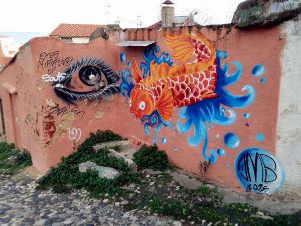 Portugal - Lisbon Street Art Patio Dom Fradique Fish
