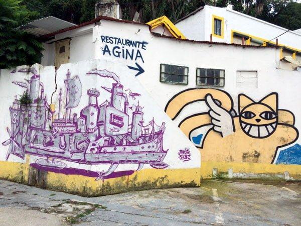 Portugal - Lisbon Street Art Teatro Maria Vittoria Boat-Chat