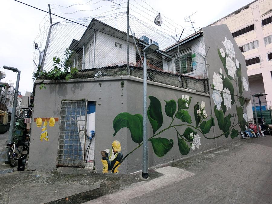 Singapore Street Art - Little India Jasmine