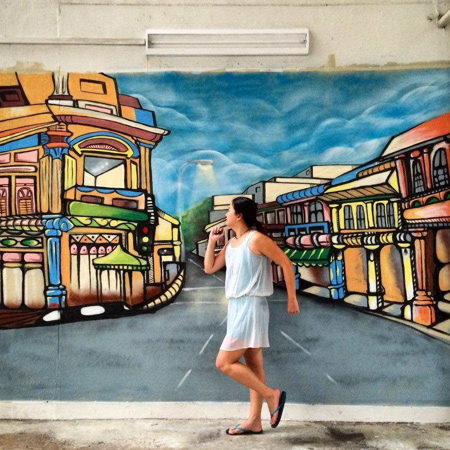Singapore Street Art - Little India Rowell Court