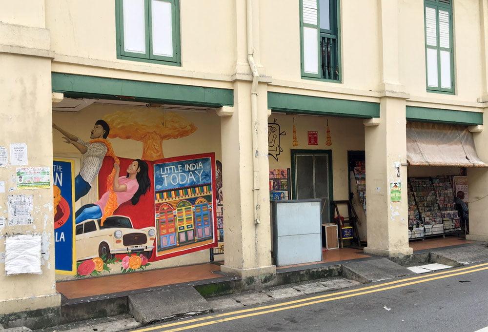 Singapore Street Art Little India Siyamala Bookstore Long