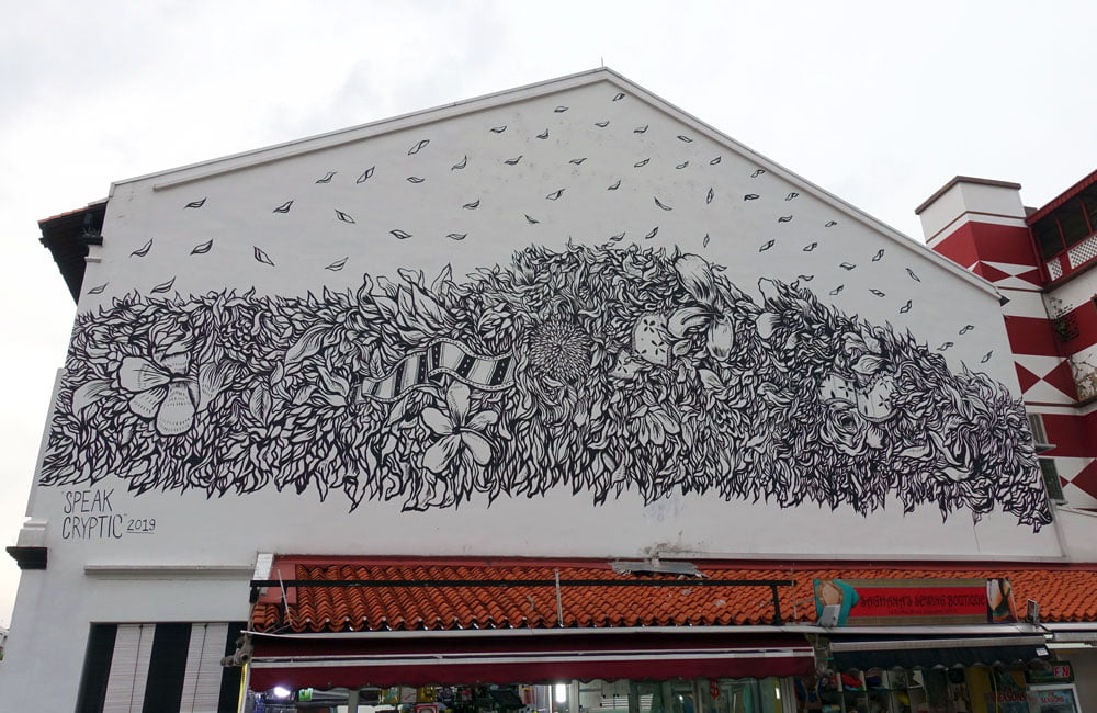 Singapore Street Art Little India Speak Cryptic In The Clouds