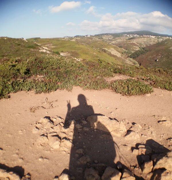 Portugal - Cabo da Roca Shadow Selfie
