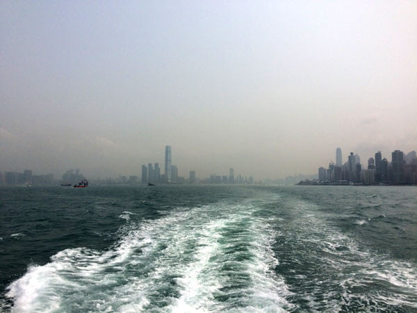 Hong Kong Ferry Wake